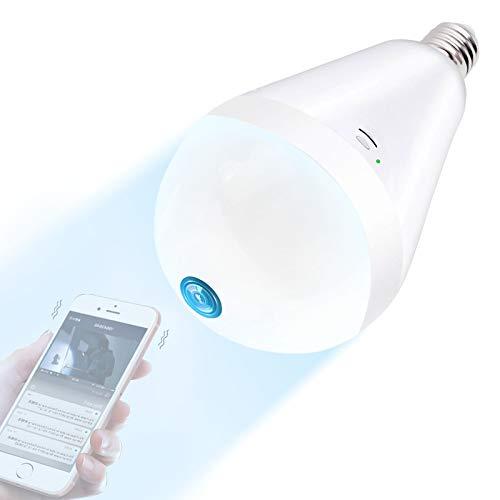 Light Bulb Camera Wifi 1080P HD 360 Fisheye Wireless Security Camera Home...