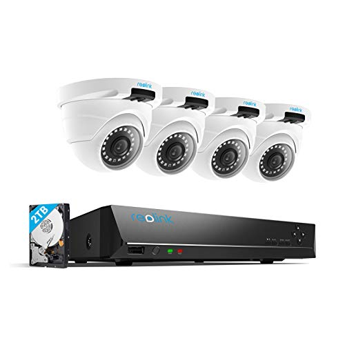 REOLINK 4MP 8CH PoE Security Camera System for Home and Business, 4pcs...