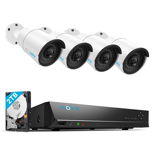 REOLINK 8CH 5MP Home Security Camera System, 4pcs Wired 5MP Outdoor PoE IP...