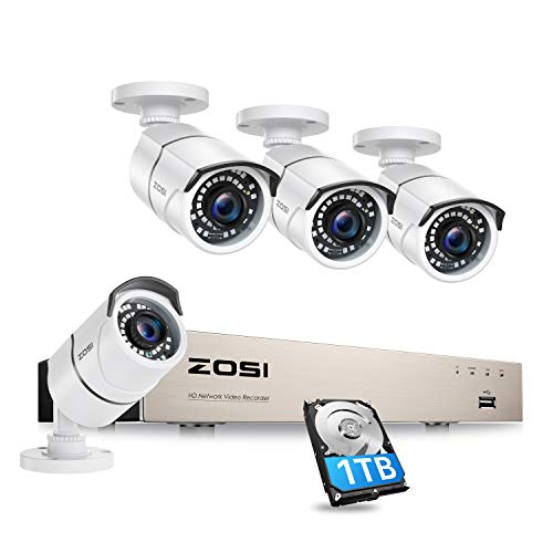 ZOSI 8CH PoE Security Camera System,H.265+ 5MP 8Channel NVR Recorder with...