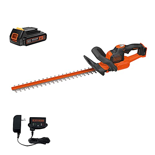 BLACK+DECKER 20V MAX Cordless Hedge Trimmer with Power Command Powercut,...