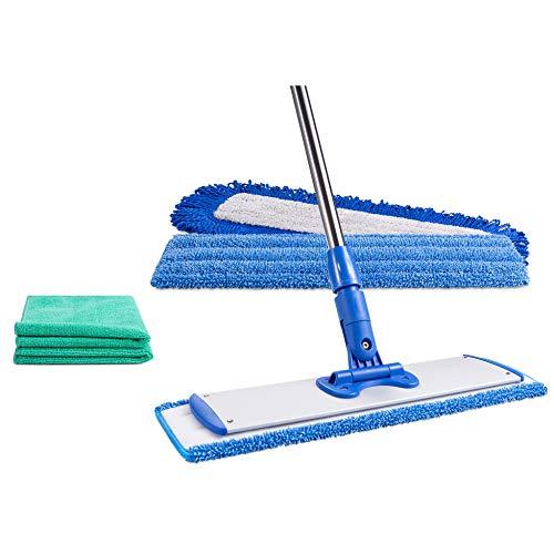18' Professional Microfiber Mop - Hardwood Floor Mop - Dry & Wet Mop for...