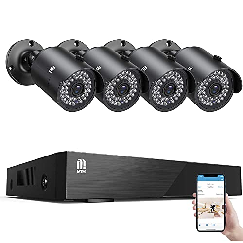 【5MP Cameras】 MTM Home Security Camera System Outdoor, 8 Channel H.265+...