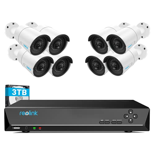 REOLINK 4MP 16CH PoE Security Camera System for Home and Business, 8pcs...
