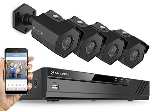 Amcrest 4MP Security Camera System, w/ 4K 8CH PoE NVR, (4) x 4-Megapixel...