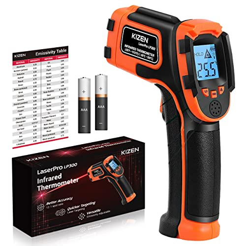 KIZEN Infrared Thermometer Gun (NOT for Humans) - LaserPro LP300...