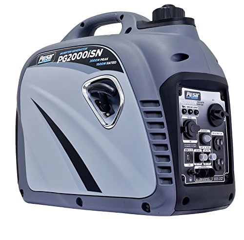 Pulsar PG2000iSN 2,000W Portable Gas-Powered Inverter Generator with USB...
