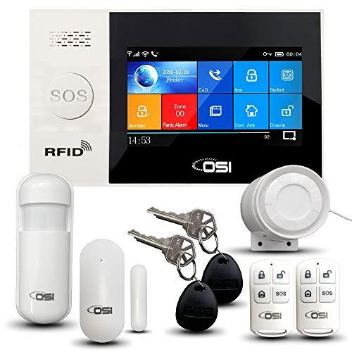 【OSI Wireless WiFi Smart Home Security DIY Alarm System - 8 Piece】 DIY...
