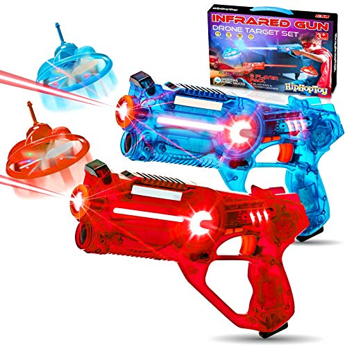 HIPHOPTOY 2-Player Kids Laser Tag Gun Game with Flying Drone Target, 2...