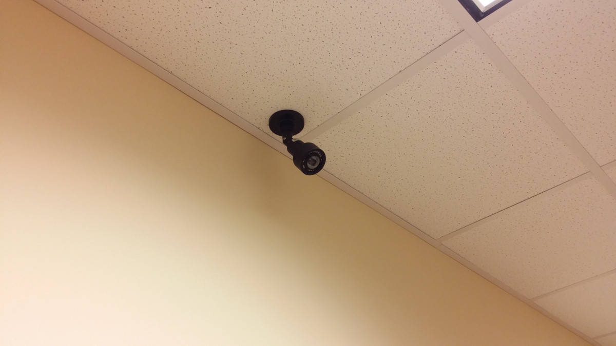 CCTV in the ceiling