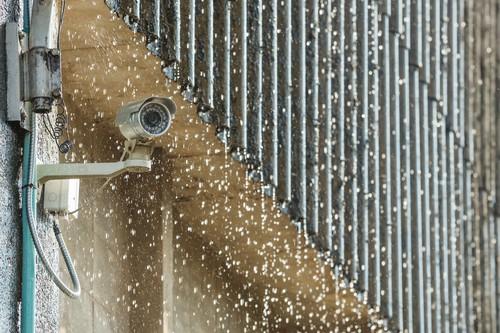 CCTV in the rain