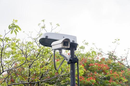 closed circuit camera, CCTV recording important events in the ga