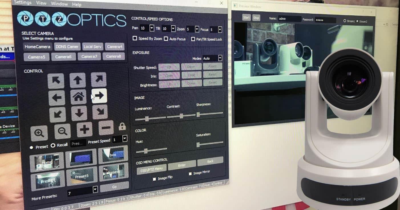 PTZ Camera Control