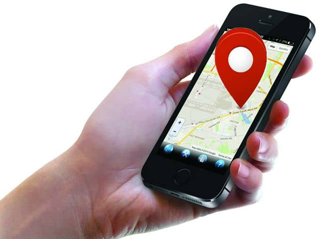 phone's GPS tracker