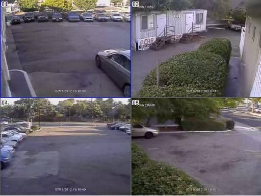 security camera is recording now