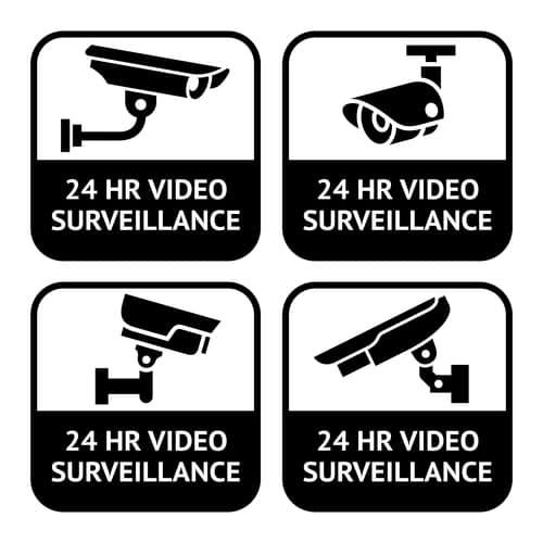 CCTV labels