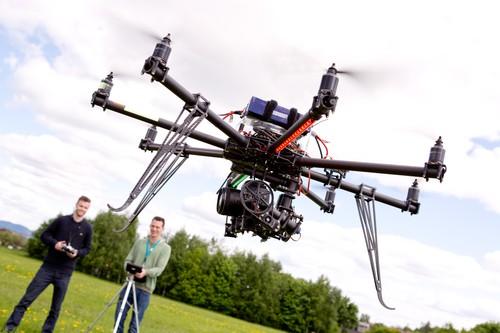 Photographer and Pilot with UAV