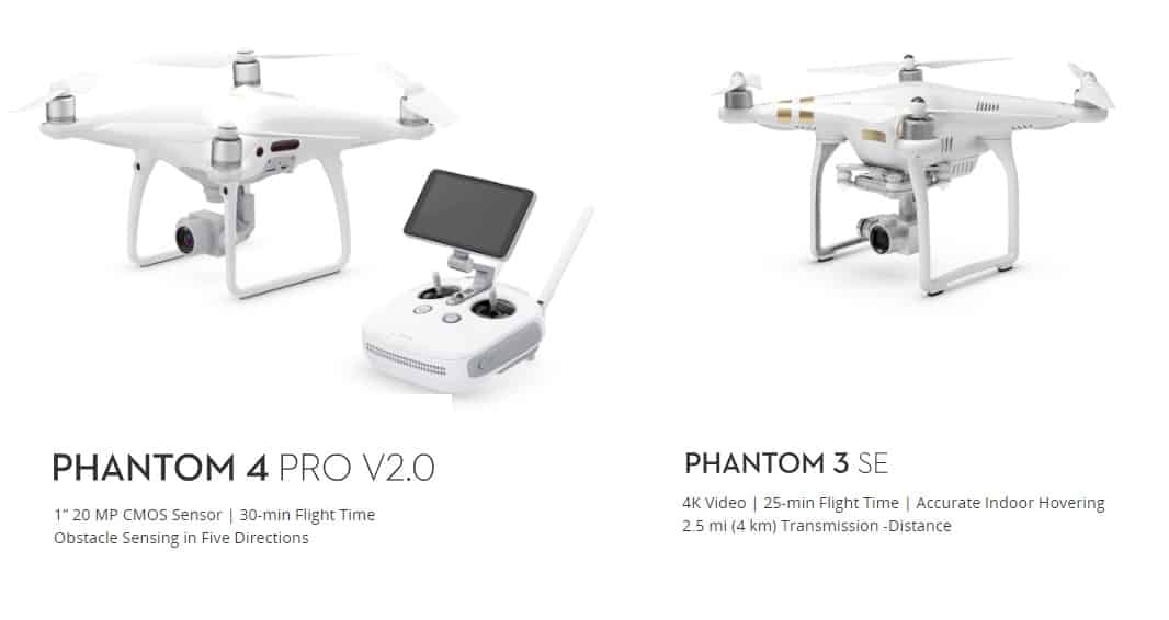 Difference Between DJI Phantom 3 and DJI Phantom 4