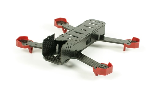 Beginning of racing drone assembly