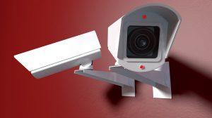 Wireless Surveillance Cameras On Red
