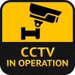 Warning Sticker for Security Alarm CCTV Camera Surveillance - security camera drawing symbol