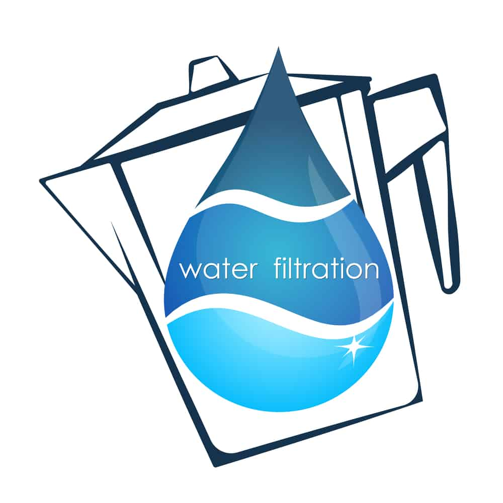 Drop of water and container filter