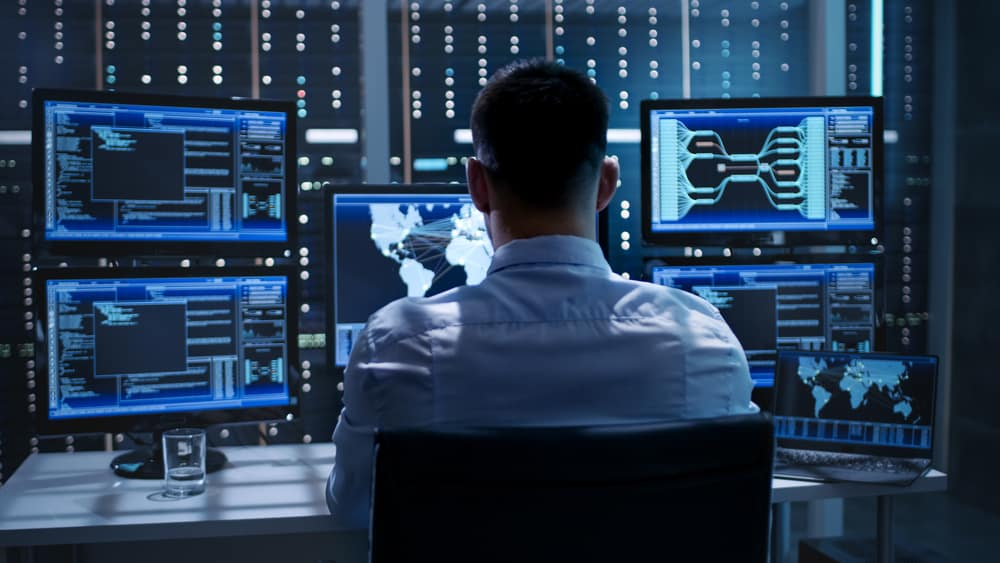 System Security Specialist Working at System Control Center