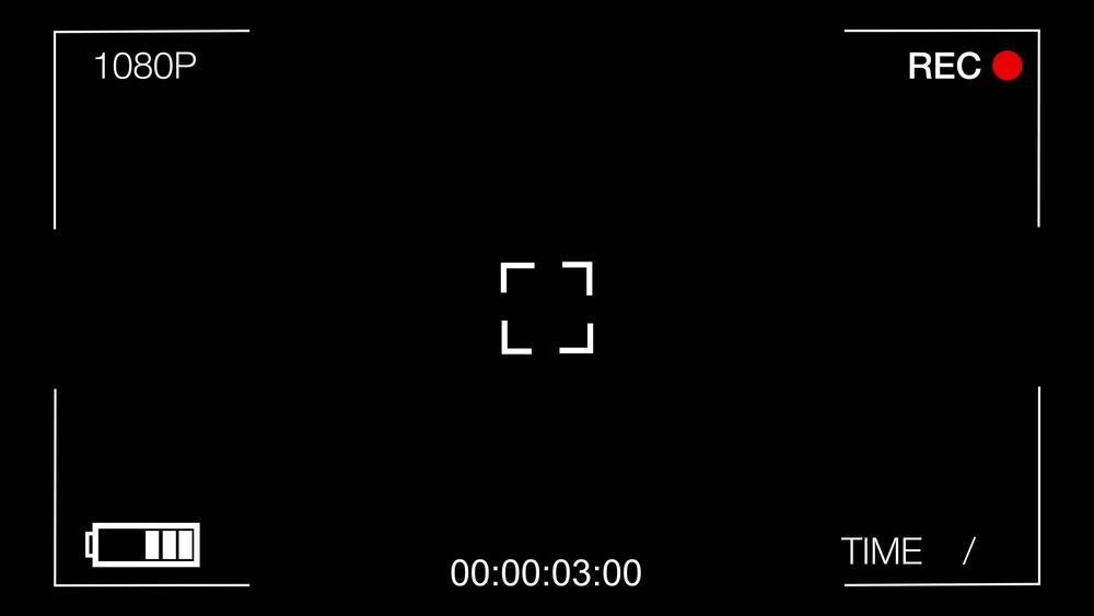 Black Screen Cctv Camera,time Goes Forward