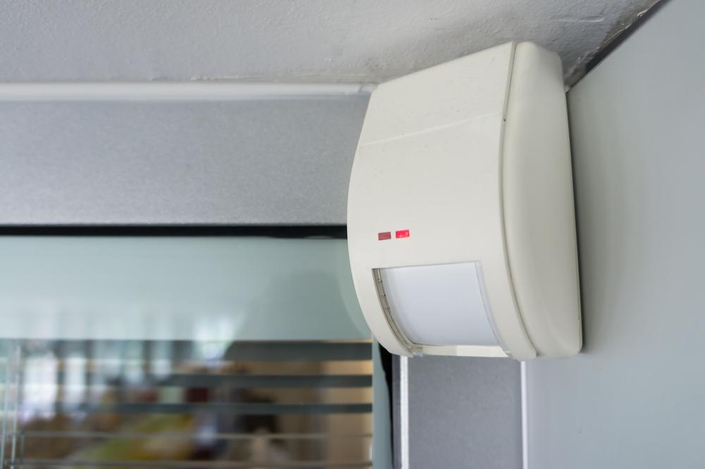 Burglar alarm system movement sensor