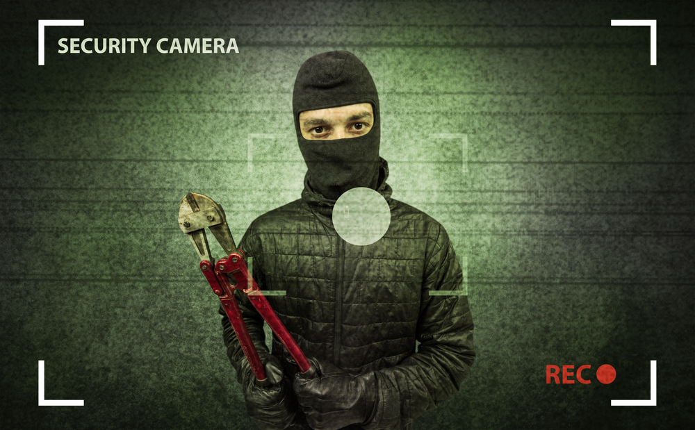 Burglar in action from a CCTV