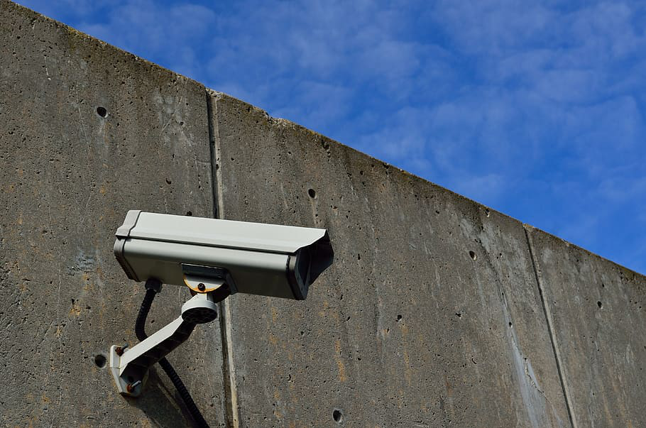Security camera at a construction site