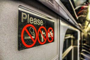 No Littering Signage