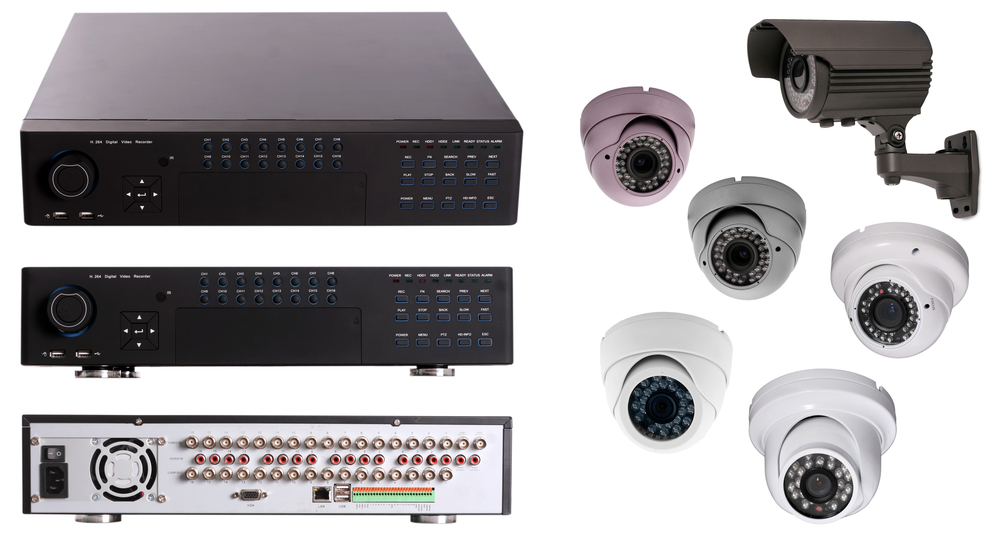 NVR and security camera isolated