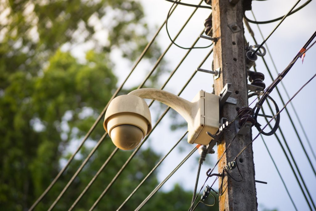 Unmaintained Dusty Security Surveillance Camera