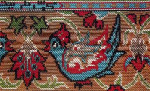 Selvage With Bird Persian Silk Brocade