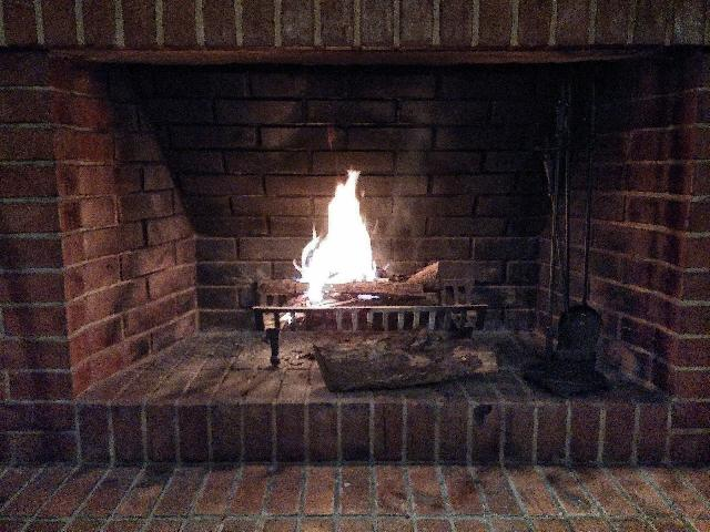 cleaning a stone fireplace